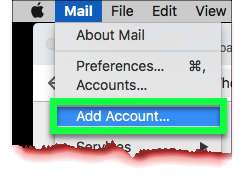 "An image prompting users to select ""Add Account"" from the ""Mail"" dropdown"